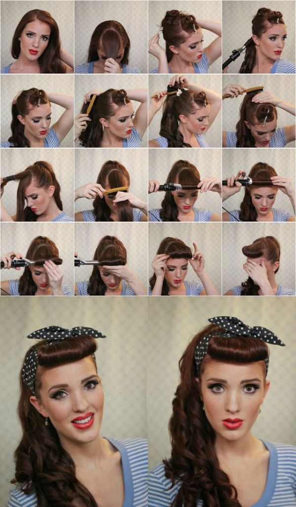 30 Vintage Do It Yourself Step By Step Hairstyles Hairstyles