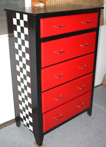 Racing Logo Toolbox Dresser  Vintage Home Decor