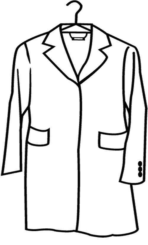 Winter Coat Coloring Page Sketch Coloring Page