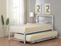 Twin Size Metal HiRise Day Bed Frame With Headboard & Pop ...
