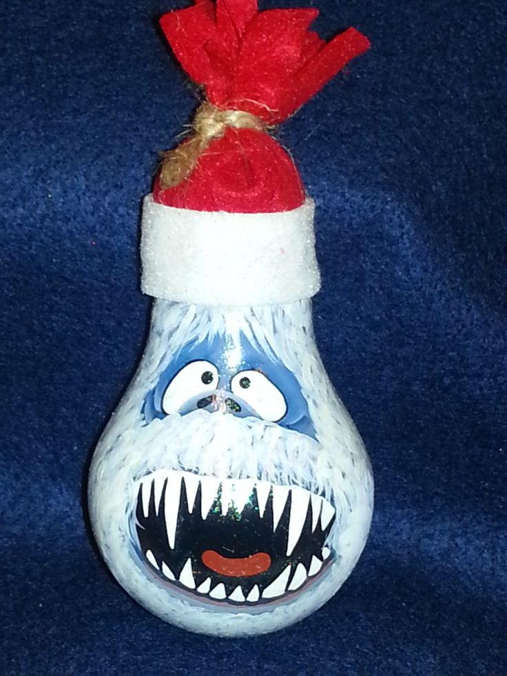 snowman lightbulb ornaments