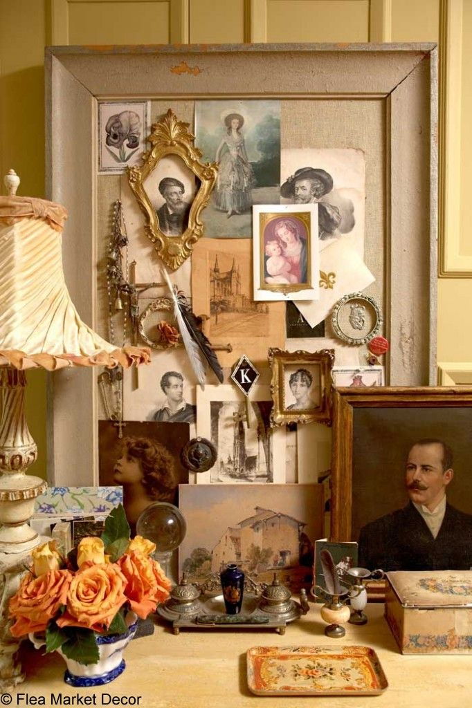Flea Market Decorating  Design Coach Vintage Home Office