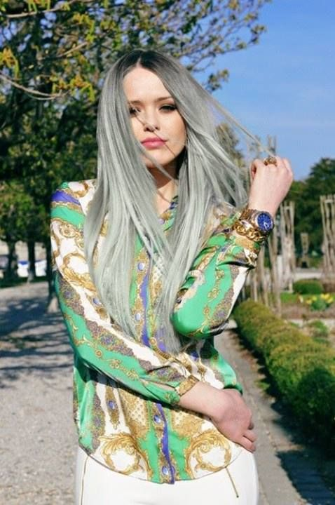 47 best images about Young people gray\blonde hair on Pinterest | Long gray hair. The grey and Gray