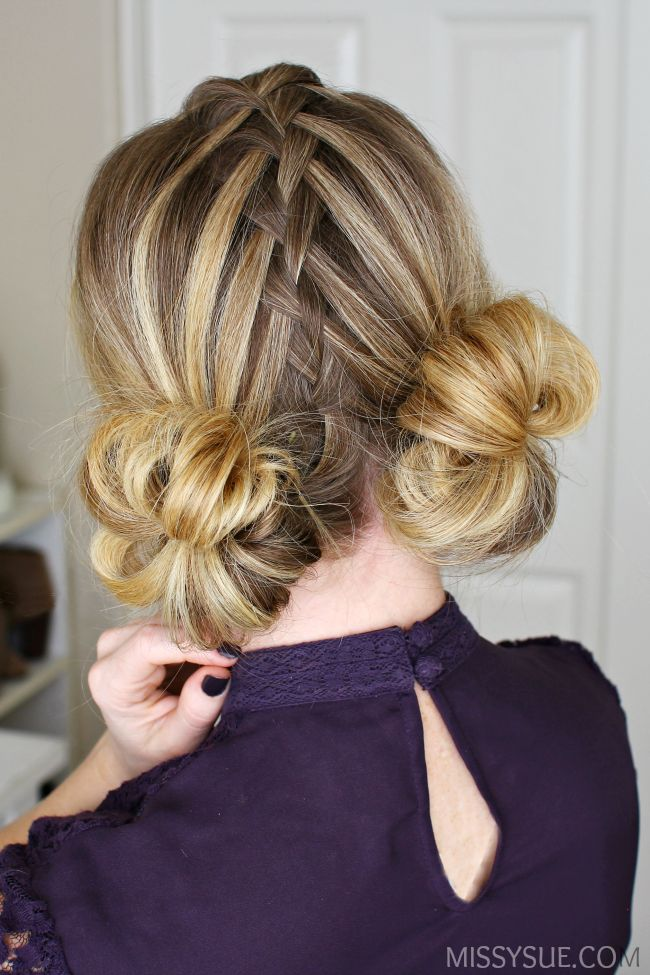 25 best ideas about Double buns on Pinterest  Bun hairstyles Hair buns and Easy hairstyle