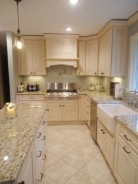 Designer's Notes When designing a small kitchen, use ...