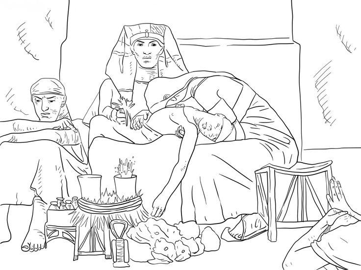 The death of Pharaoh's first born son. The last Egyptian