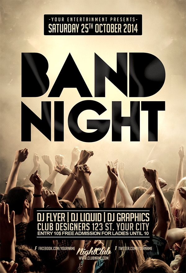 band flyer templates free
