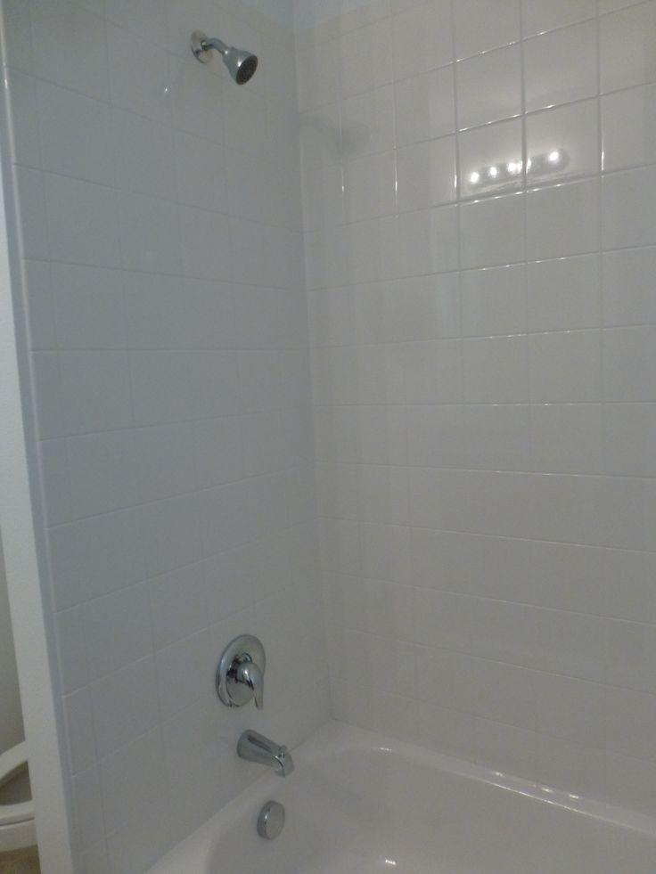 6x6 white bath wall tile standard in all baths