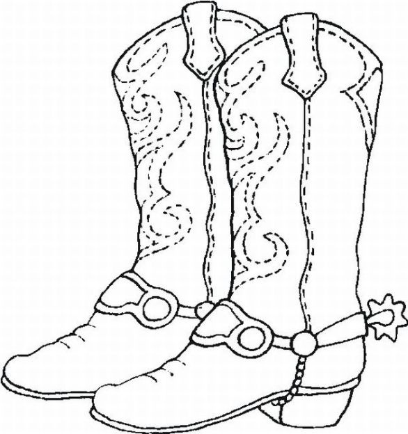 coloring sheet #cowboy #boots  fabric & patterns