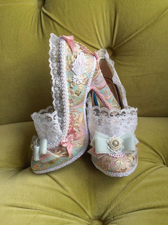 Marie Antoinette Costume Heels Shoes Rococo Baroque