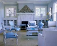 Love the built ins on either side of the fireplace ...