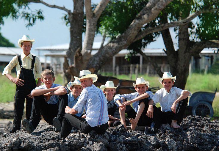 Mennonite Boys On Mainland Belize Elbert Greer