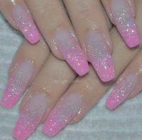 17 Best ideas about Pink Glitter Nails on Pinterest ...