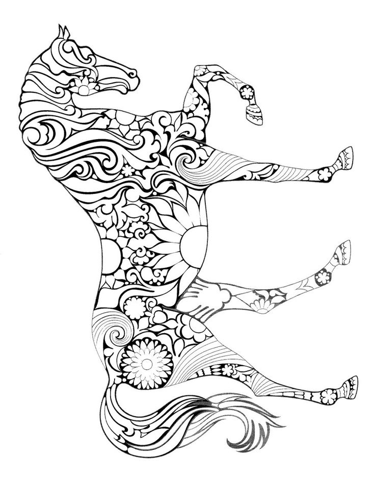 714 best Animal Coloring Pages for Adults images on Pinterest