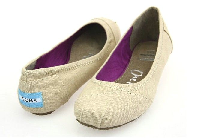 Toms Ballet Flats Natural Canvas