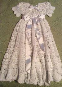 Heirloom Vintage style Christening gown crochet pattern ...