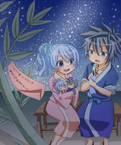Cute Chibi Anime Desktop Wallpaper Grey And Juvia Children So Cute More Cabbage You Can