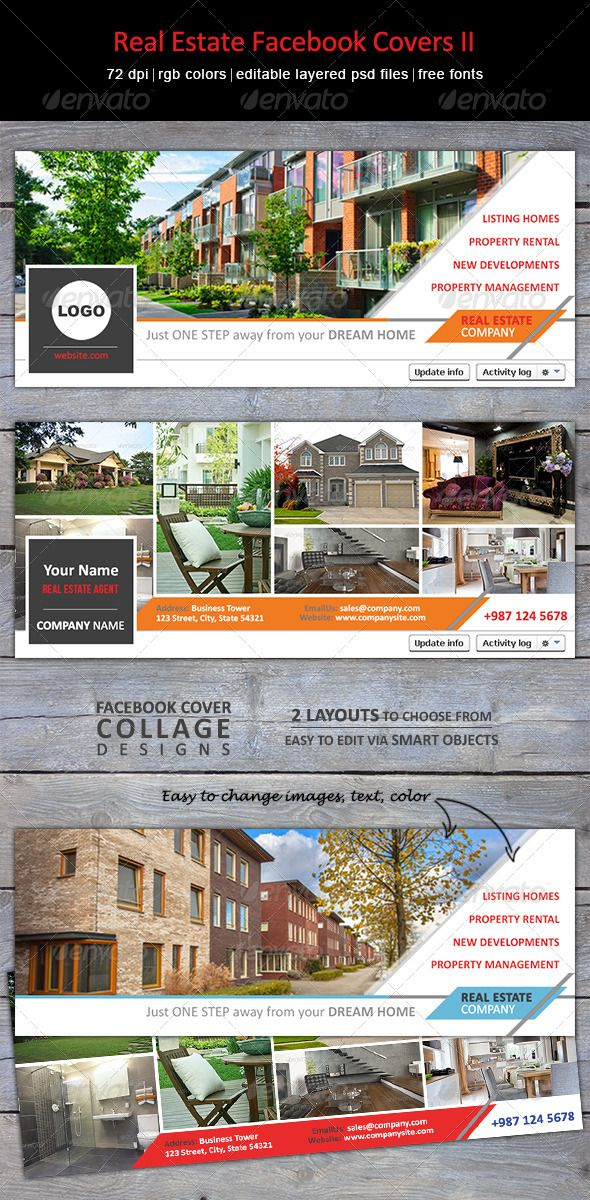 Real Estate Facebook Covers II  Timeline Creative and Timeline covers