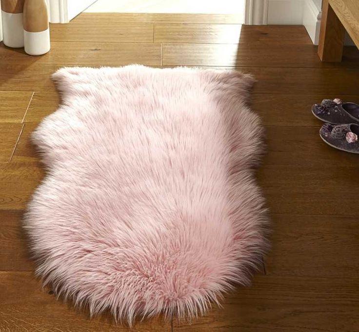 Faux Fur  Pink Rugs  Modern Rugs  Decor  Pinterest
