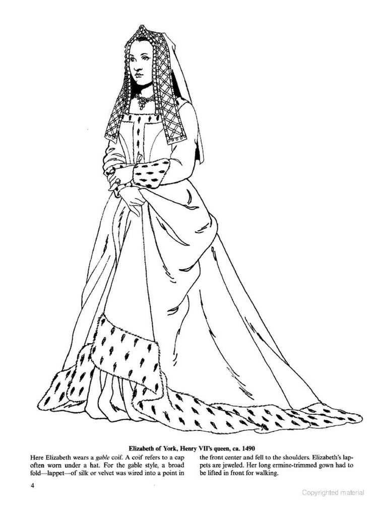 1000+ images about Historical Fashion Coloring Pages on