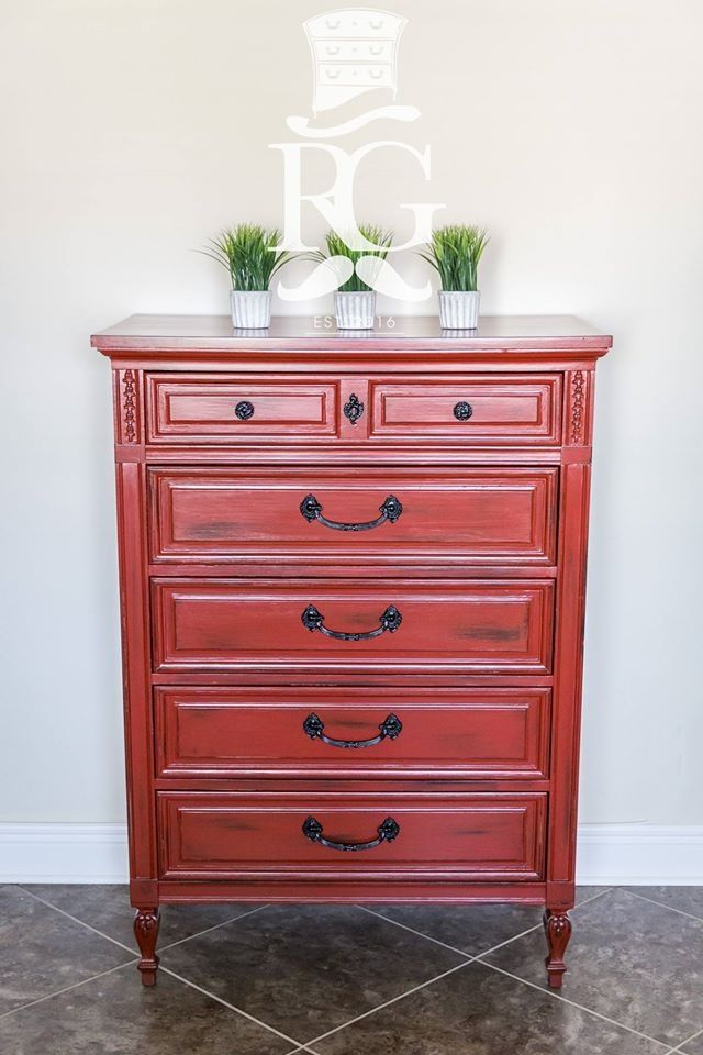 710 best images about Red Painted Furniture on Pinterest  Miss mustard seeds Milk paint