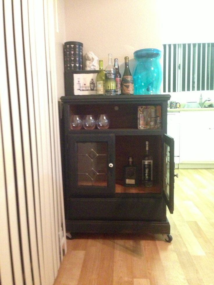traveling kitchen pre made cupboards dresser turned into liquor cabinet   what happens when i'm ...