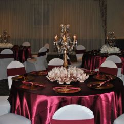 Blue Chair Covers For Weddings White Wash Table And Chairs Sweet 16 Marsala/burgundy Champagne Decor With Gold Candelabra Floral Blush ...