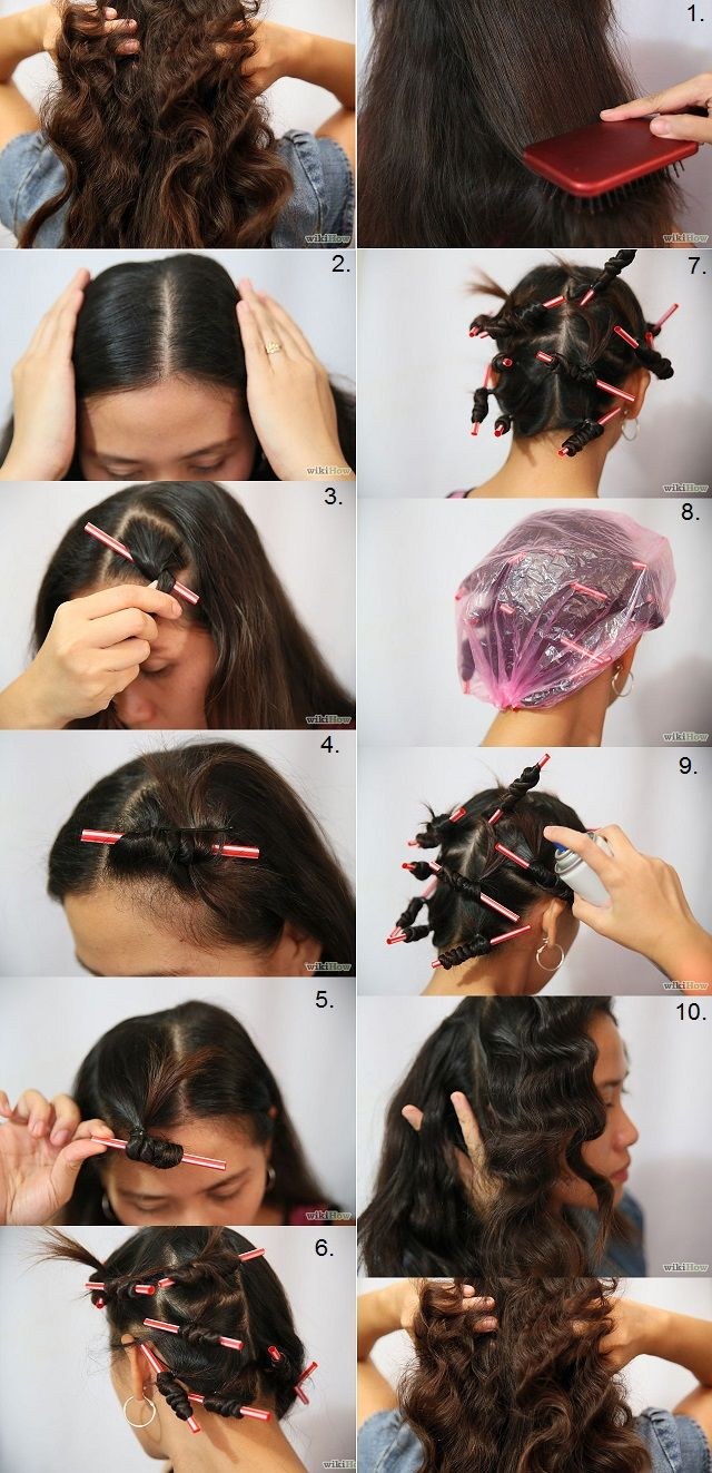 Curl Your Hair With Drinking Straws Curls Hair And