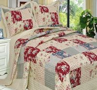 French Country Floral Patchwork 3 piece Quilt Coverlet ...