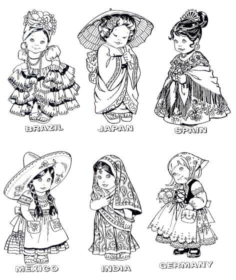 1185 best images about Dolles coloring on Pinterest