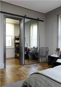 A Sliding Barn Door Mirror. Love this and it almost makes ...