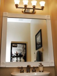 Dress up your bathroom mirror by adding molding around the ...