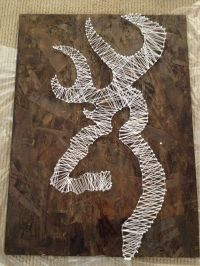 Browning deer logo! Homemade easy to do! All you need is ...
