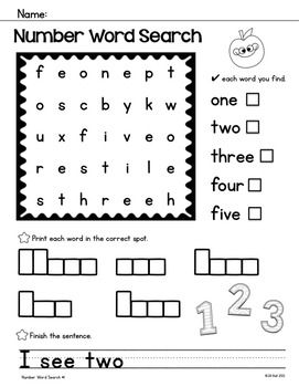 17 Best images about Number recognition/order on Pinterest