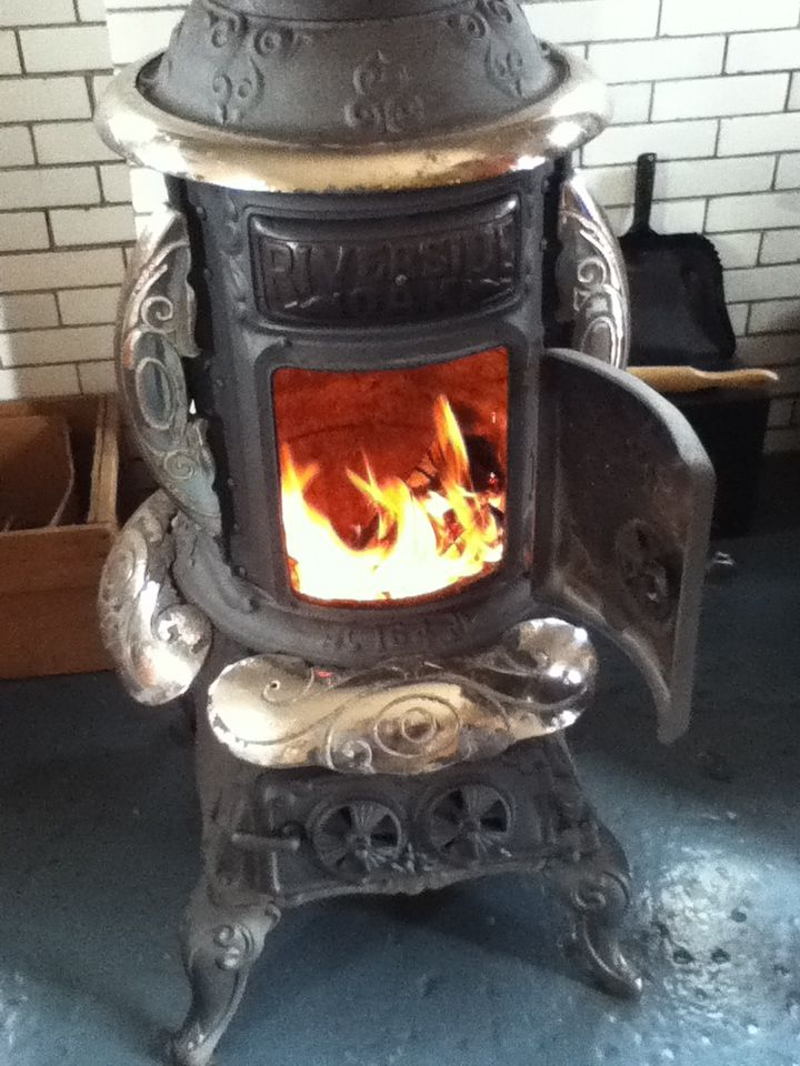 Old Fashioned Wood Burning Stove Alternative Heating