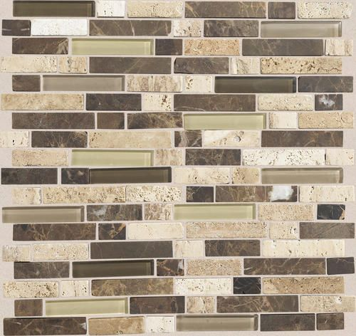 Mohawk Stone Radiance Stone and Glass Mosaic Wall Tile 58