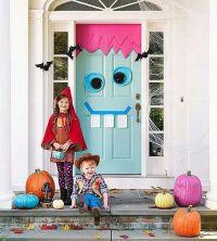 Cute Halloween door decoration. My door had a scary face ...