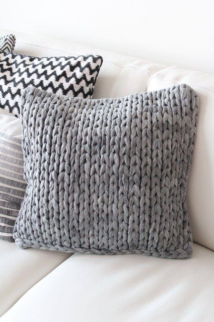 huge knitting needles  tshirt yarn  Project Ideas