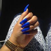 nails and blue salon talk nailing