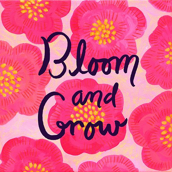 Bloom! This would make an adorable print in a little girls room.