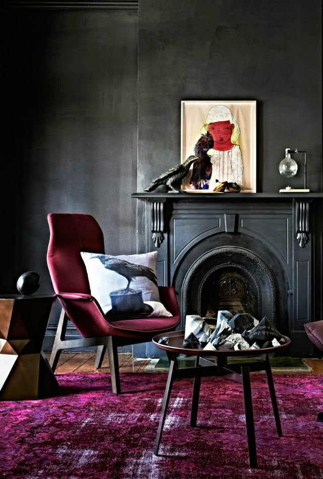 1000 ideas about Dark Interiors on Pinterest  Eclectic