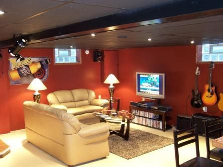 Nice Guitar Themed Basement Man Cave But Check Out The Lower Left Corner Thats The Edge Of