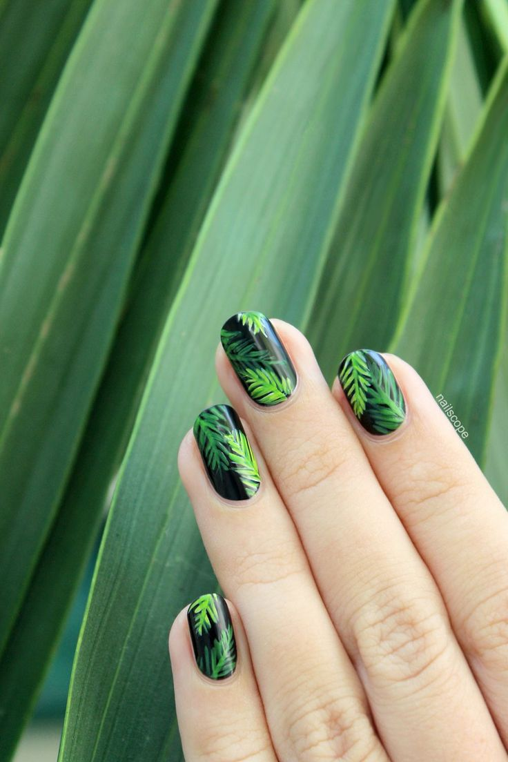 25+ best ideas about Palm Tree Nails on Pinterest