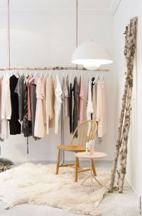 1000+ ideas about Hanging Clothes Racks on Pinterest
