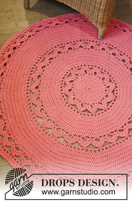 148 best images about Crochet Mats  Rugs on Pinterest