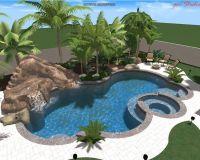 Swimming Pool w Rock Slide | Pool | Pinterest | Beautiful ...