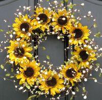 25+ best Sunflower Wreaths trending ideas on Pinterest ...