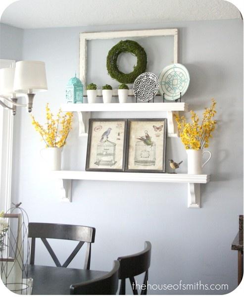 1000 ideas about Wall Shelf Decor on Pinterest Hallway