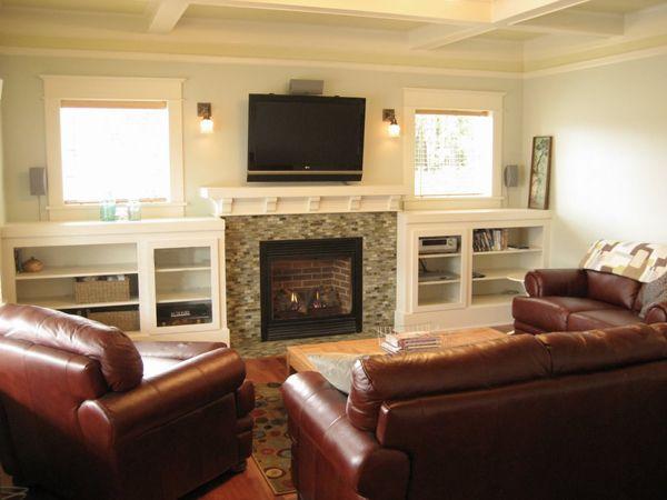 Tv Fireplace Sconces Builtins