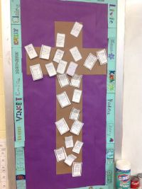 6th grade Lenten Bulletin Board, filled with ideas for ...